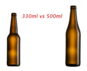 craft beer bottle vs standard bottle