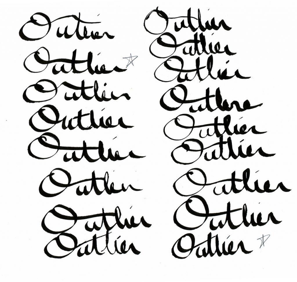 crude scribbles of proto logos