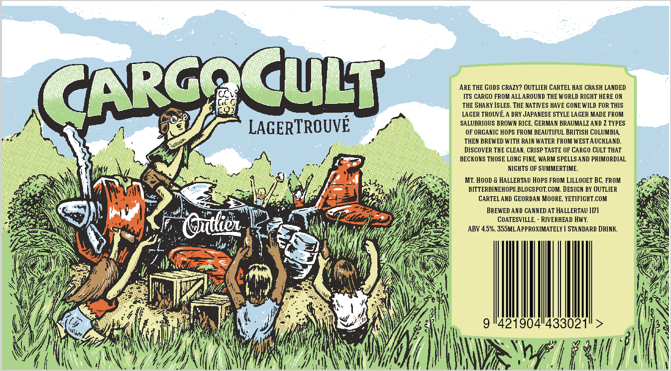 Cargo Cult Lager Trouvé | Outlier Cartel - Craft Beer New Zealand